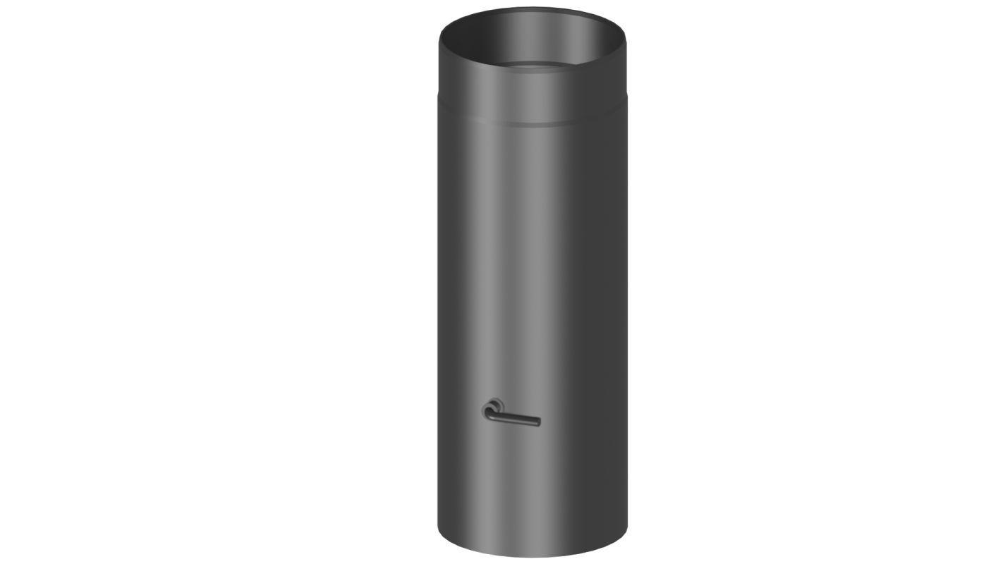 Rauchrohr mit Drosselklappe Länge 500 mm - Durchmesser: 120 mm, Farbe: Grau