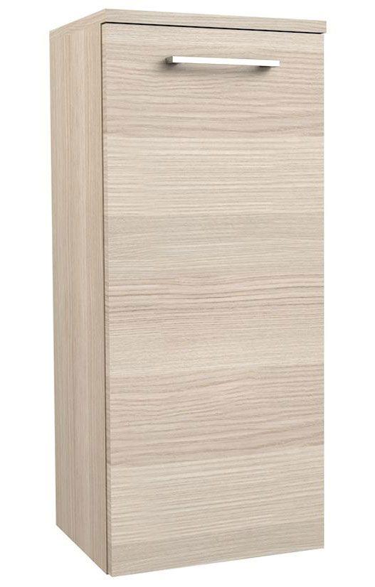 Badezimmer - Seitenschrank Rajkot 95, Farbe: Esche hell – 80 x 35 x 28 cm (H x B x T)