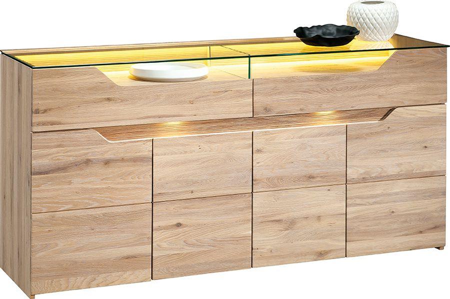 """Kommode / Sideboard """"Delphi"""" Wildeiche natur 30, teilmassiv - 85 x 170 x 45 cm (H x B x T)"""
