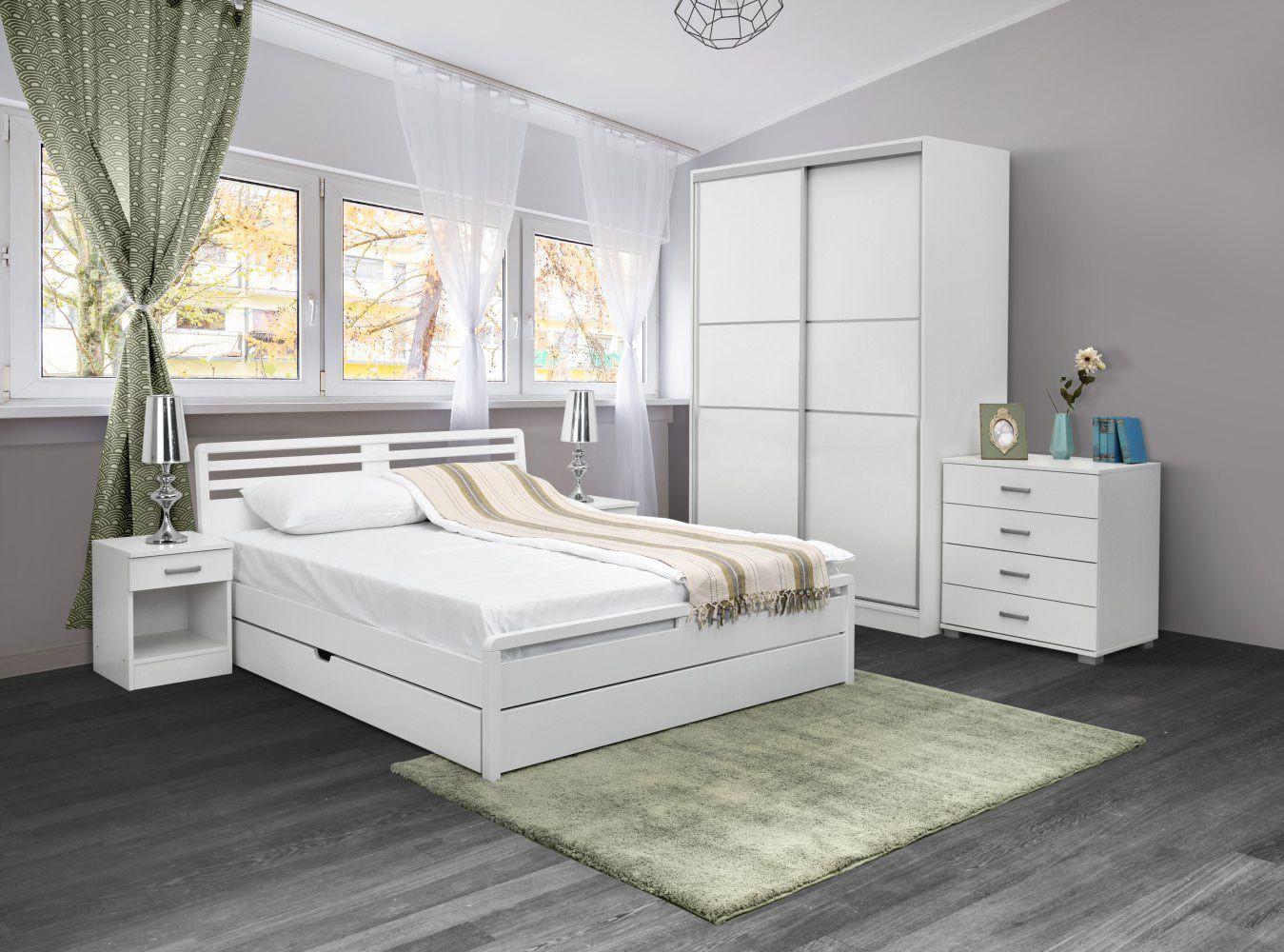 schlafzimmer komplett weiß