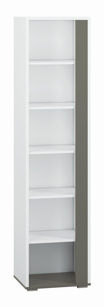 Jugendzimmer Regal Connell 04, Farbe: Weiß Anthrazit