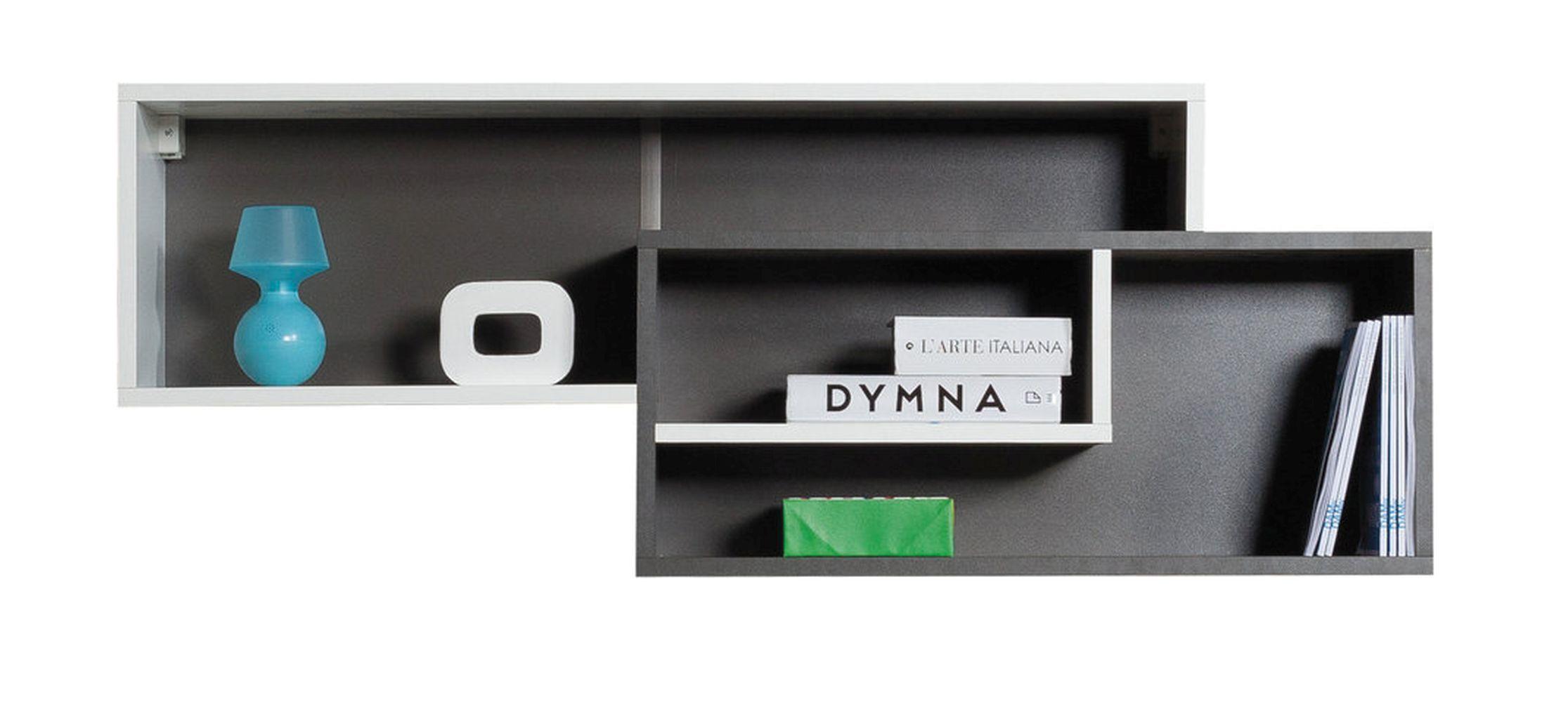 Hängeregal Ohey 11, Farbe: Grau Weiß Abmessungen: 30 x