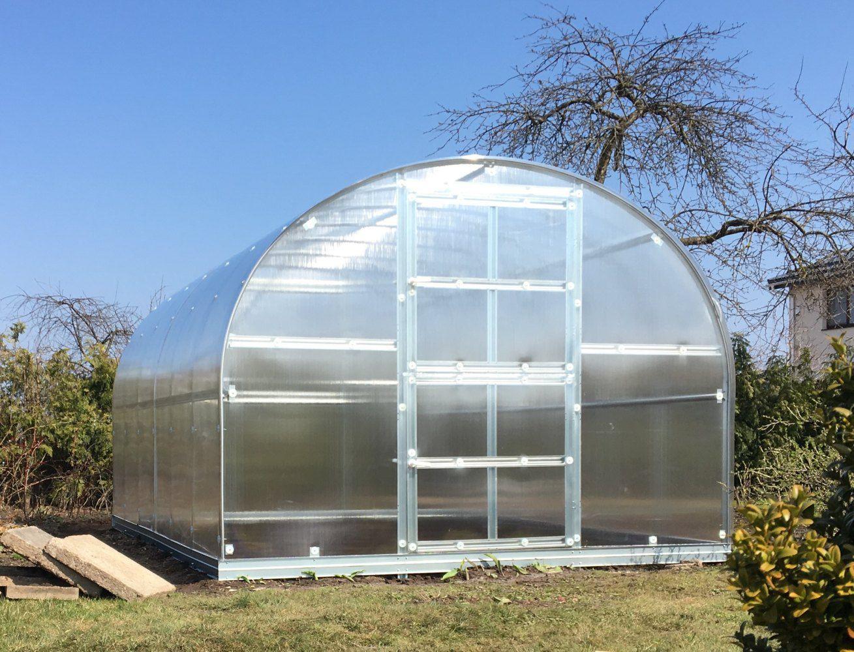 Gewächshaus 19 HKP 4 mm, Grundfläche 24 m²- Abmessungen: 800 x 300 cm (L x B)