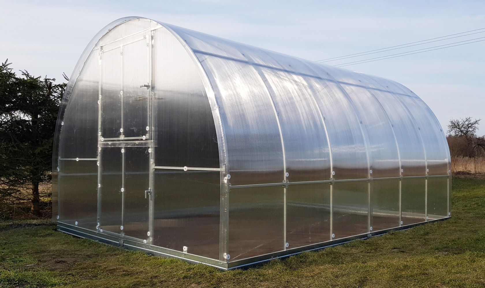 Gewächshaus 22 HKP 4 mm, Grundfläche 6 m²- Abmessungen: 200 x 300 cm (L x B)