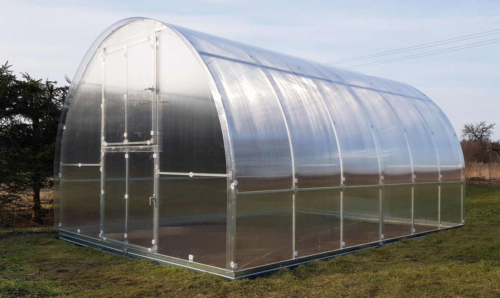 Gewächshaus 21 HKP 6 mm, Grundfläche 12 m²- Abmessungen: 400 x 300 cm (L x B)