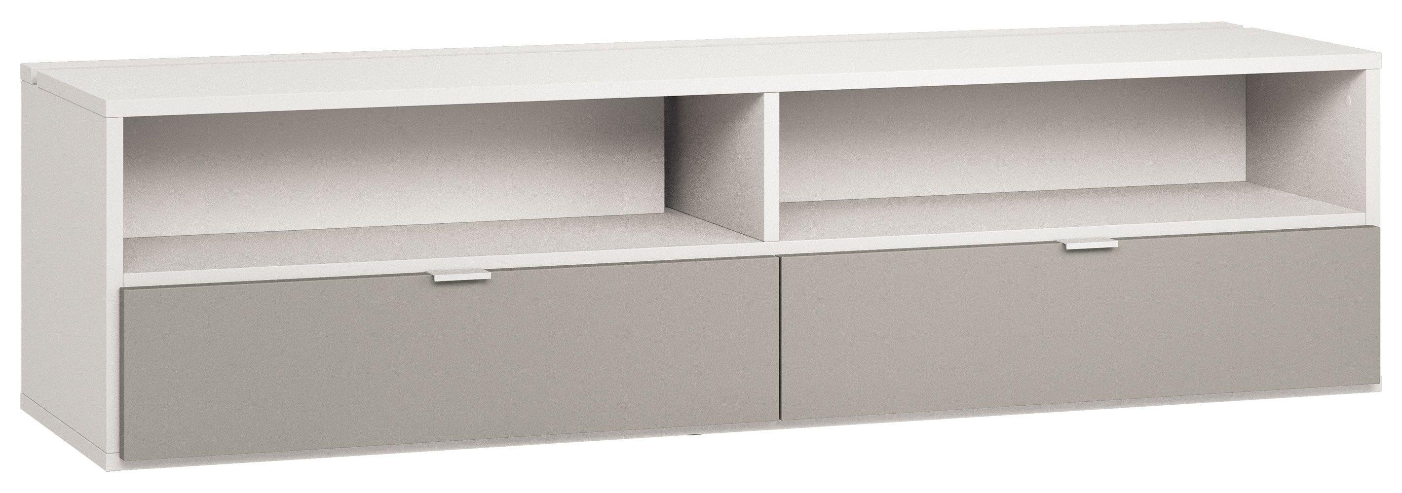 TV Unterschrank Bellaco 36, Farbe: Weiß Grau Abmessungen