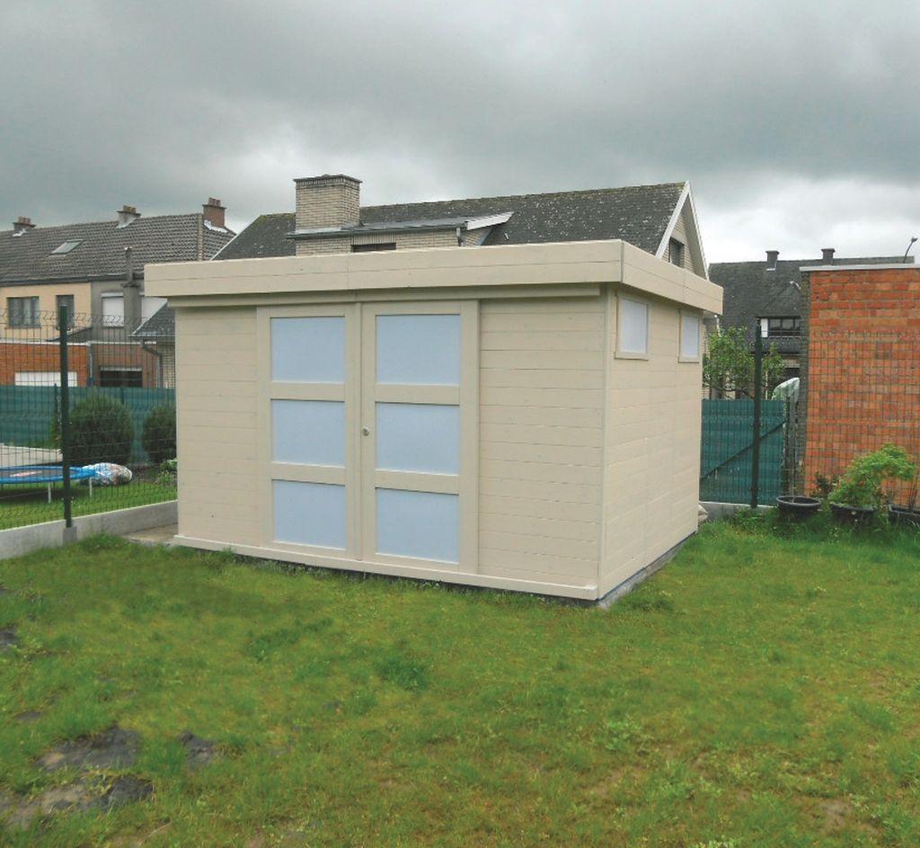 Gartenhaus Pirum S8716 - 19 mm Blockbohlenhaus, Grundfläche: 8,39 m², Flachdach