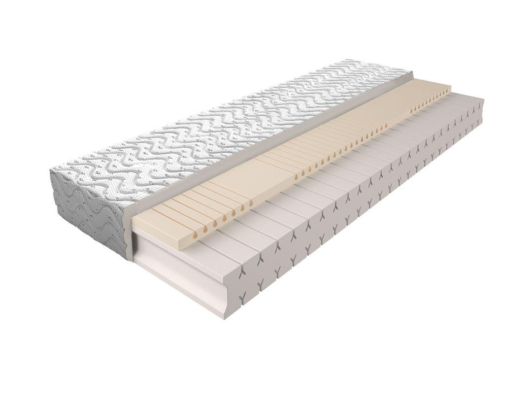 Matratze mit Schaumstoffkern 010 - Größe: 140 x 200 cm, Höhe: 18 cm