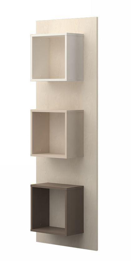 Wandregal 05, Farbe: Creme / Cappuccino - Abmessungen: 172 x 58 x 22 cm (H x B x T)