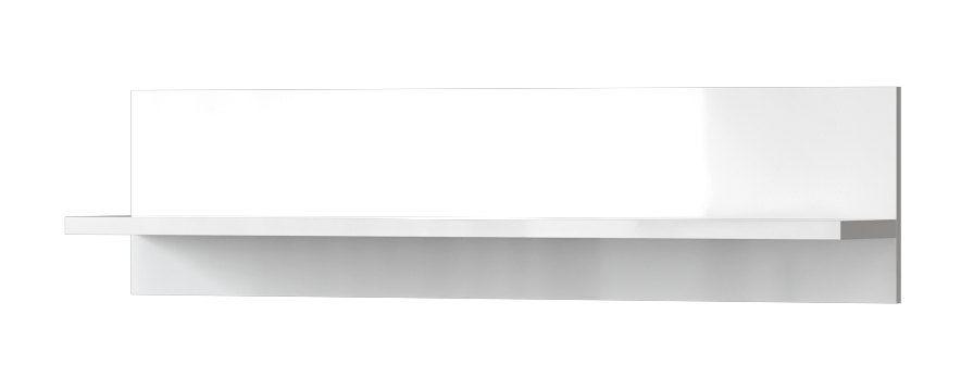 Hängeregal Wandregal Garim 41, Farbe: Weiß Hochglanz 30