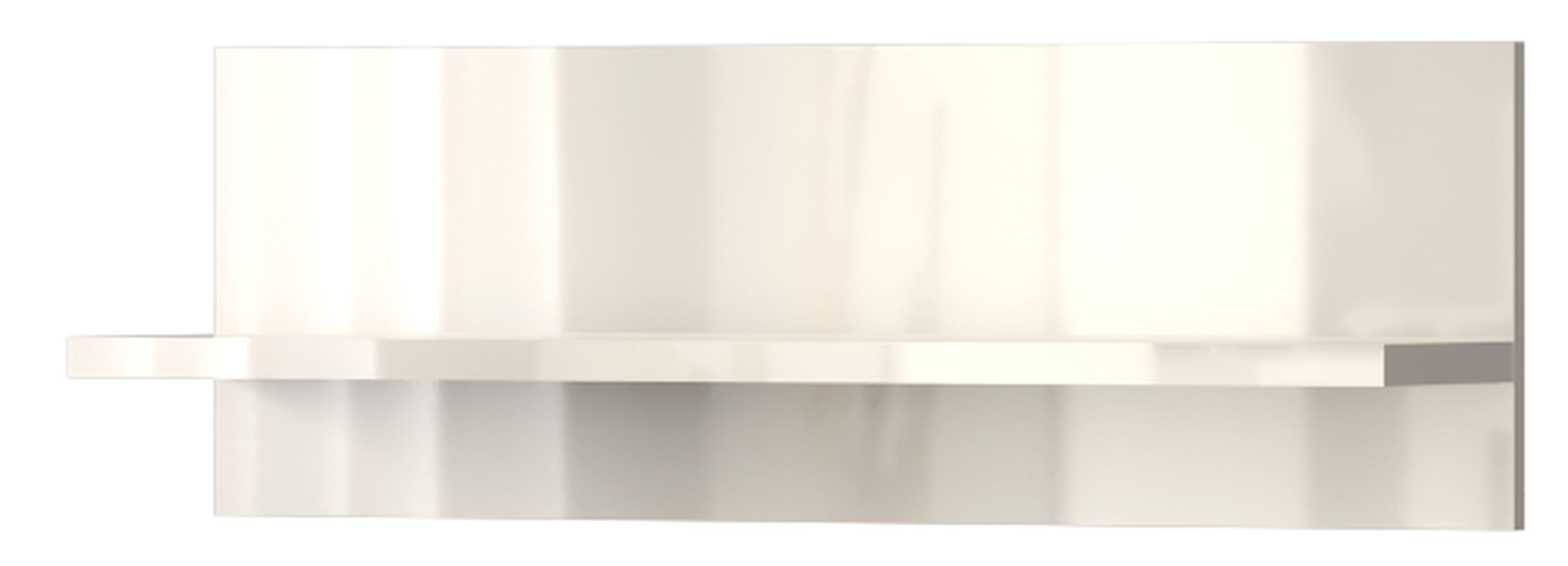 Hängeregal Wandregal Garim 40, Farbe: Weiß Hochglanz 30