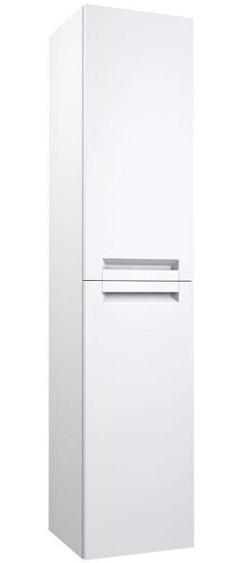 Badezimmer - Hochschrank Meerut 83, Farbe: Weiß matt – 160 x 35 x 36 cm (H x B x T)