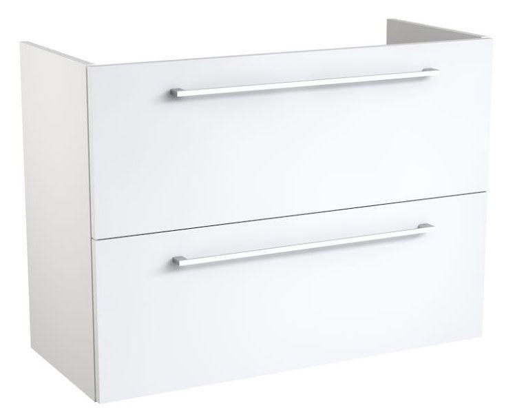 Waschtischunterschrank Thane 05, Farbe: Weiß glänzend – 58 x 79 x 35 cm (H x B x T)