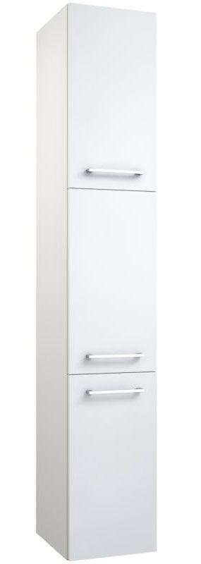 Badezimmer - Hochschrank Thane 08, Farbe: Weiß glänzend – 174 x 30 x 35 cm (H x B x T)