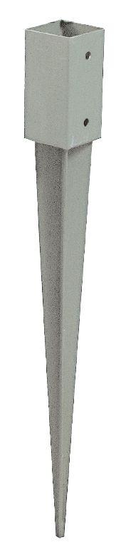 Pfostenschuh, verzinkt - Maße: 7 x 7 cm
