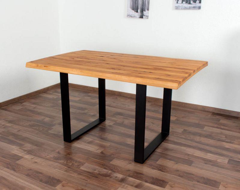 Esstisch Wooden Nature 411 Kernbuche massiv geölt, Tischplatte rustikal - 140 x 90 cm (B x T)