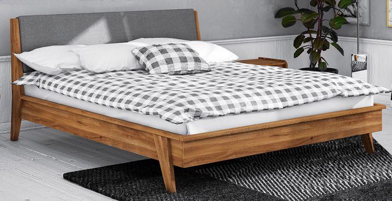 Doppelbett Otago 01 Wildeiche massiv geölt - Liegefläche: 180 x 200 cm (B x L)