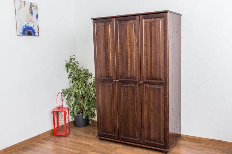 Kleiderschrank Massivholz Nussfarben 016 - Abmessung 190 x 120 x 60 cm (H x B x T)