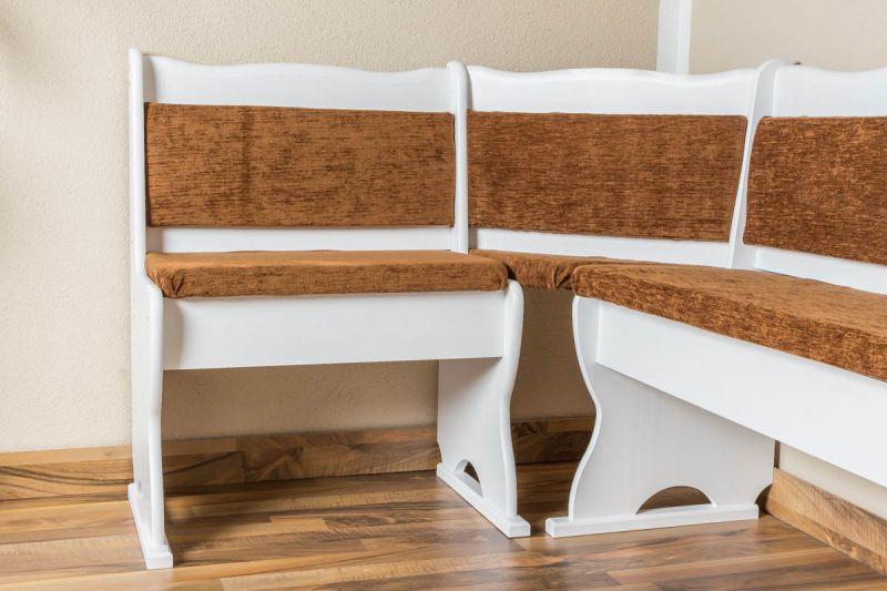 Eckbank Holz weiß