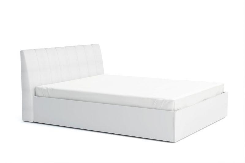 Doppelbett mit Stauraum Farsala 06, Farbe: Weiß - Liegefläche: 160 x 200 cm (B x L)