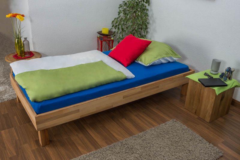 Futonbett / Massivholzbett Wooden Nature 04 Kernbuche geölt  - Liegefläche 100 x 200 cm (B x L)