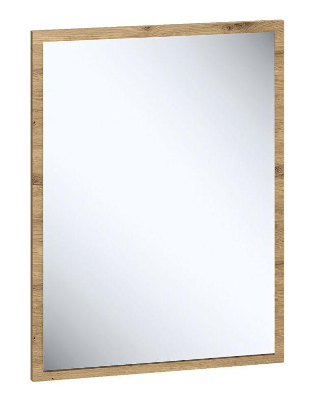 Spiegel Pandrup 08, Farbe: Eiche - Abmessungen: 65 x 50 x 2 cm (H x B x T)