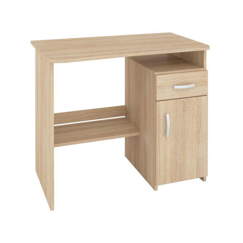 Schreibtisch Sunnyvale 04, Farbe: Sonoma Eiche hell - Abmessungen: 75 x 89 x 55 cm (H x B x T)