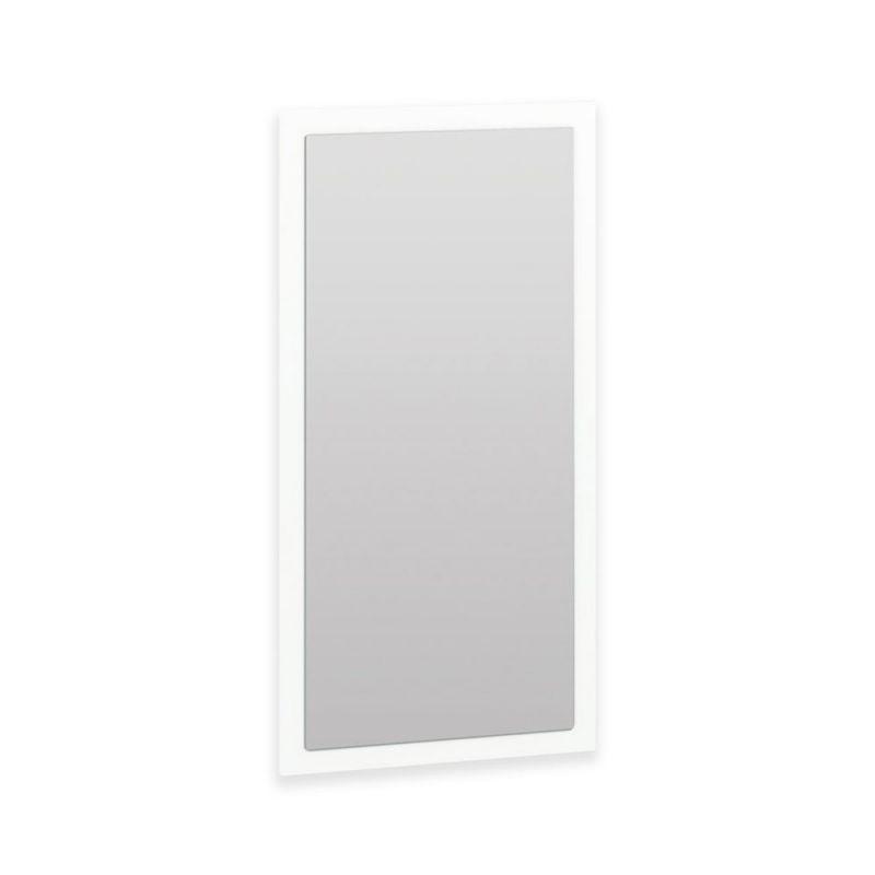 Spiegel Xalapa 07, Farbe: Weiß - Abmessungen: 92 x 46 x 2 cm (H x B x T)