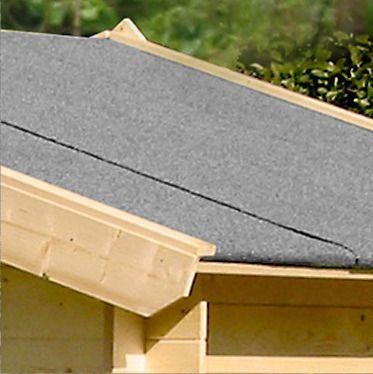 Dachpappe Schwarz - Länge: 10m