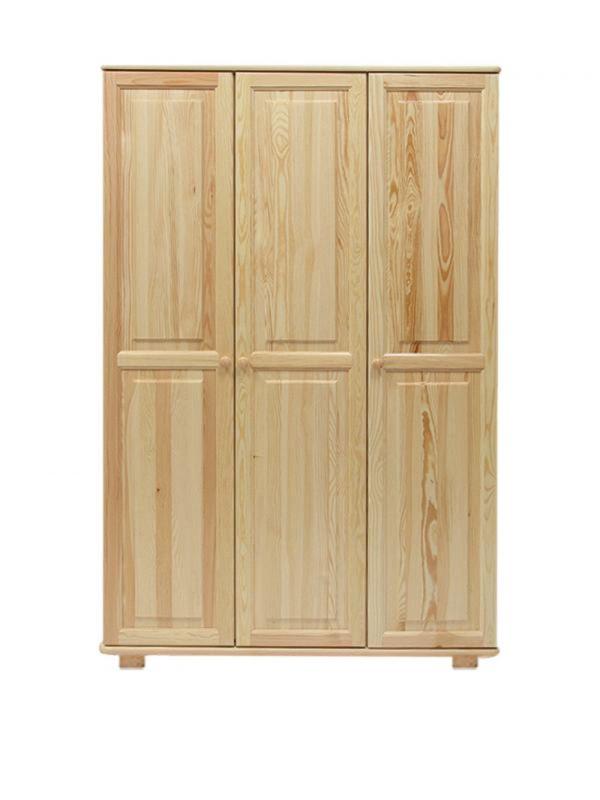 Kleiderschrank Massivholz natur 016 - Abmessung 190 x 120 x 60 cm (H x B x T)