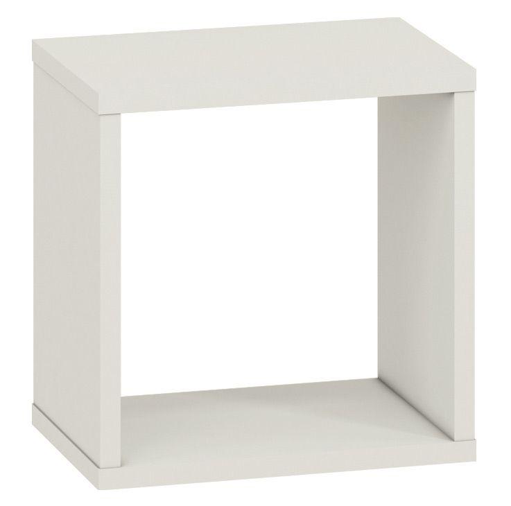 Jugendzimmer - Hängeregal / Wandregal Greeley 18, Farbe: Hellgrau - Abmessungen: 30 x 30 x 20 cm (H x B x T)