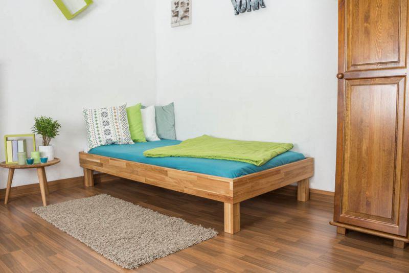 Futonbett / Massivholzbett Wooden Nature 04 Eiche geölt  - Liegefläche 90 x 200 cm (B x L)