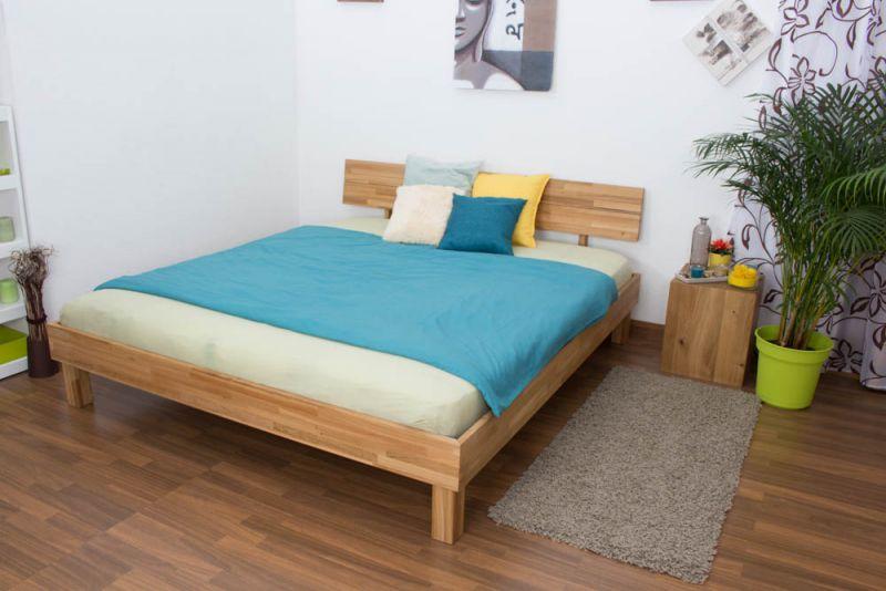 Futonbett / Massivholzbett Wooden Nature 01 Eiche geölt  - Liegefläche 180 x 200 cm (B x L)