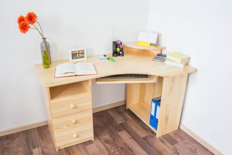 Schreibtisch Kiefer massiv Vollholz natur Junco 185 - Abmessung: 74 x 138 x 83 cm (H x B x T)