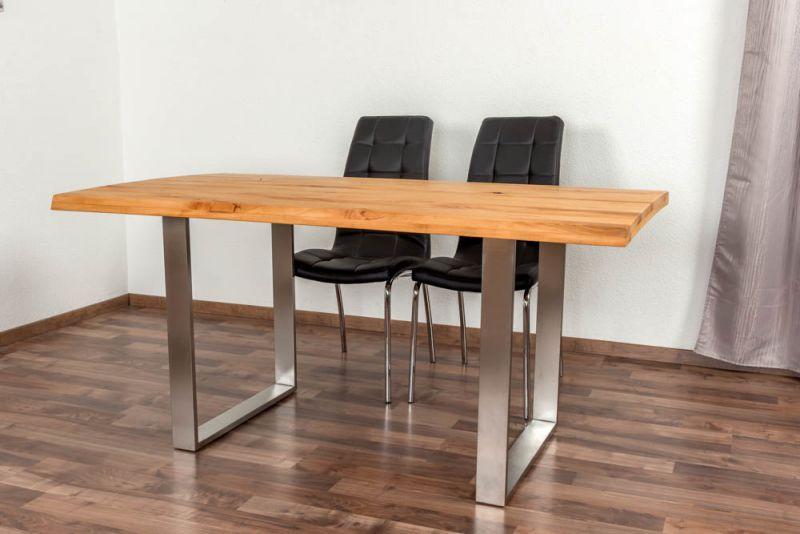 Esstisch Wooden Nature 414 Kernbuche massiv geölt, Tischplatte rustikal - 160 x 90 cm (B x T)