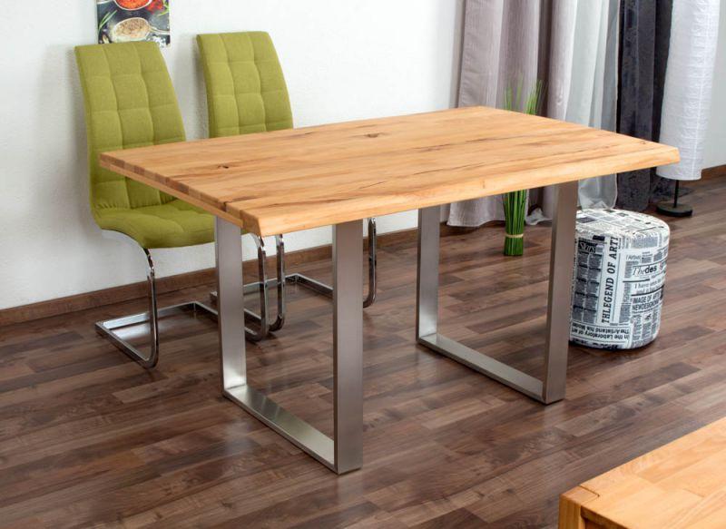 Esstisch Wooden Nature 412 Kernbuche massiv geölt, Tischplatte rustikal - 140 x 90 cm (B x T)