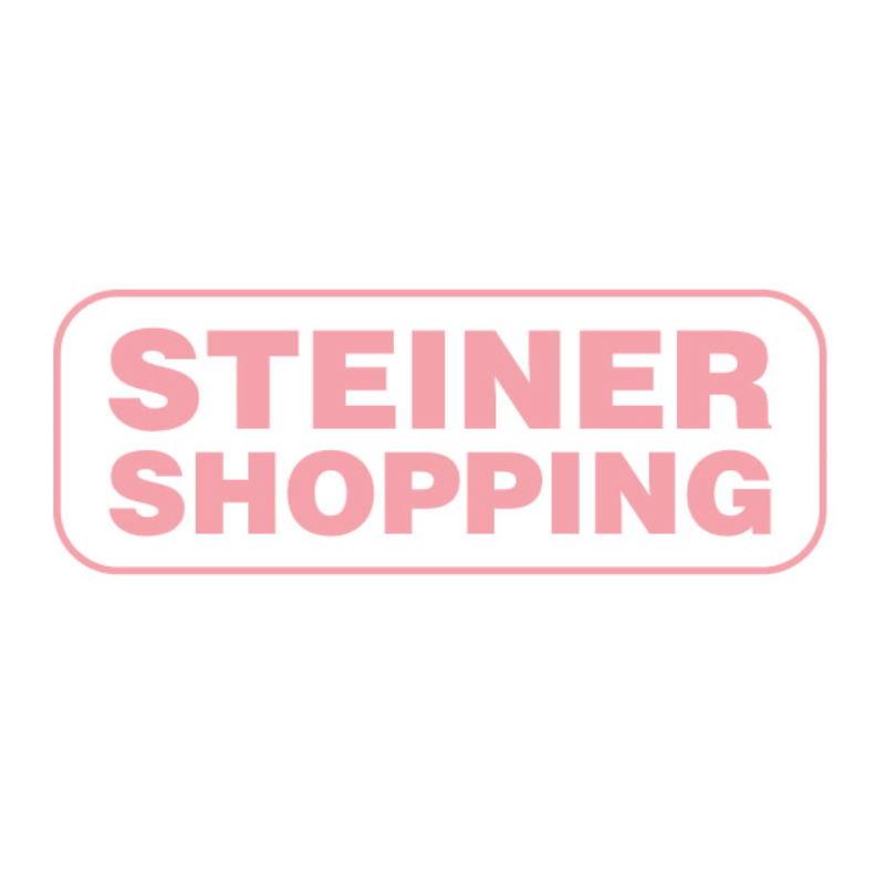 Kinderzimmer - Nachtkästchen Renton 13, Farbe: Platingrau / Weiß / Himbeerrot - Abmessungen: 40 x 40 x 40 cm (H x B x T), mit 1 Schublade und 1 Fach