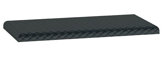 Polsterung für Sitzbank mit Stauraum Monclova 05 und 06, Farbe: Schwarz - Abmessungen: 5 x 80 x 40 cm (H x B x T)