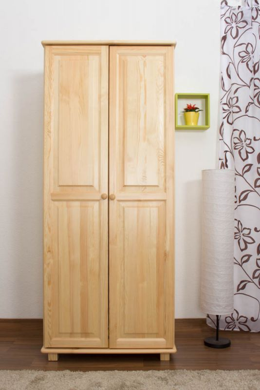 Kleiderschrank Massivholz natur 007 - Abmessung 190 x 90 x 60 cm (H x B x T)