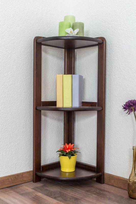 Regal / Eckregal Kiefer massiv Vollholz Nussfarben 005 - Abmessung 86 x 30 x 30 cm (H x B x T)