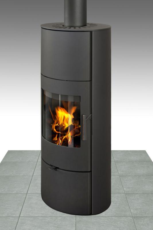 Kaminofen Seco 03 AKKU aus Stahl - Korpusfarbe: Schwarz