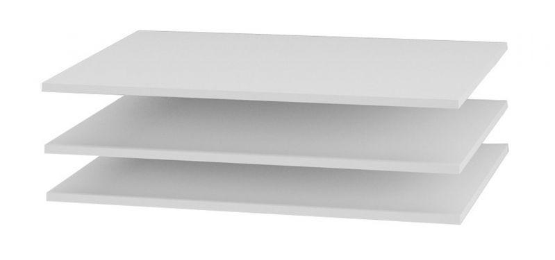 Fachboden (3 Stück) für Serien Farsala, Dodoni und Thiva, Farbe: Weiß - Abmessungen: 88 x 55 cm (B x T)