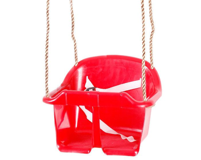 Babyschaukel 01 inkl. Seil - Farbe: Rot