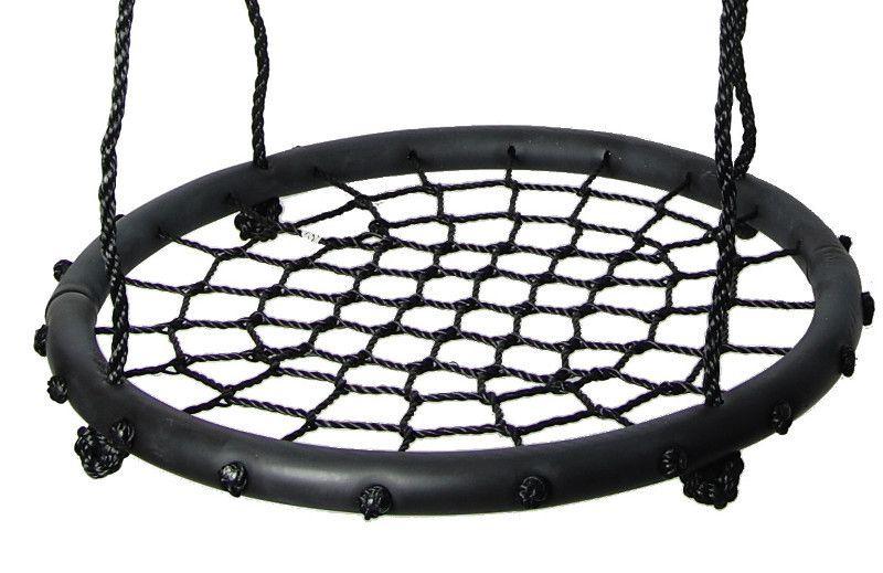 Nestschaukel 01 inkl. Seil, Durchmesser: 60 cm - Farbe: Schwarz