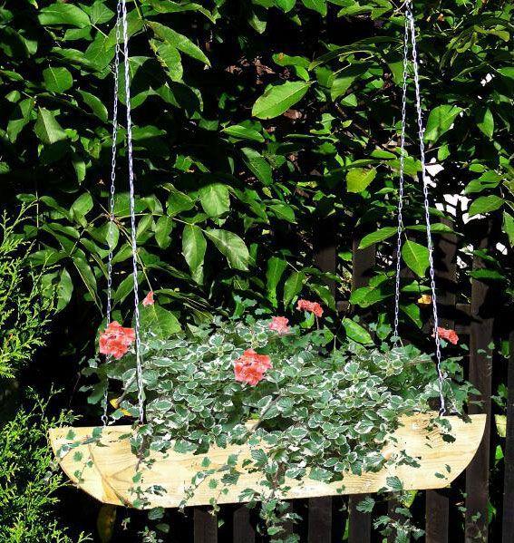 Blumenampel Fruticosus - Abmessung: 90 x 18 x 15 cm  (B x T x H)