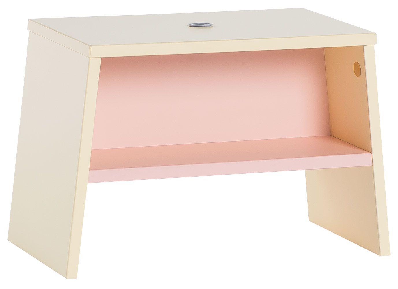 Kinderhocker Irlin 05, Farbe: Gelb / Rosa - Abmessungen: 31 x 46 x 25 cm (H x B x T)