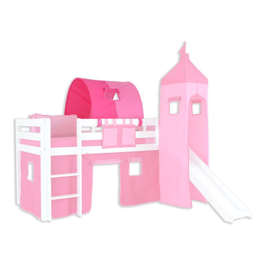 1er Tunnel zu Hoch- und Etagenbetten - Farbe:Pink/Rosa