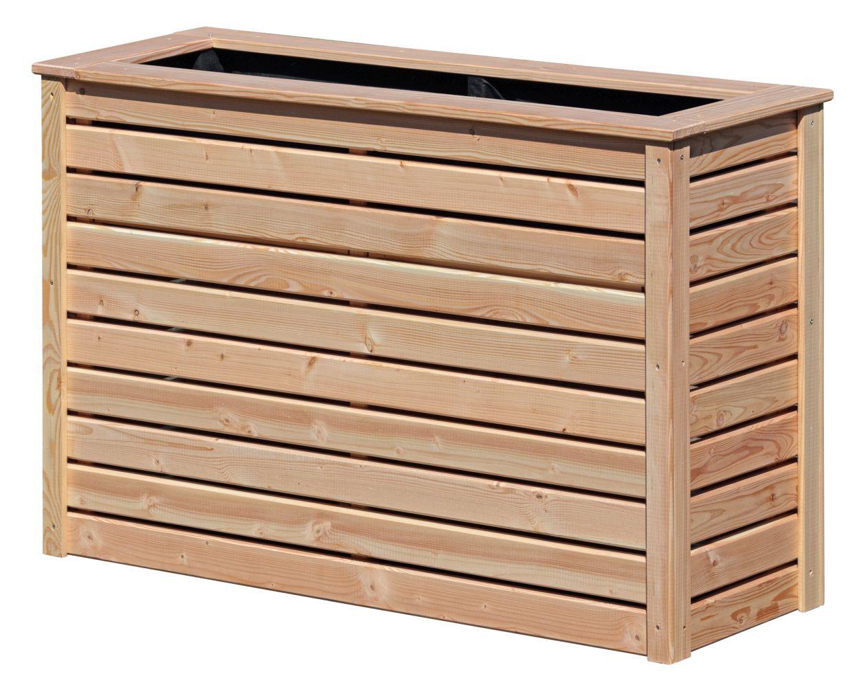 Hochbeet 03 - aus LÄRCHENHOLZ, FSC® - Abmessungen: 125 x 45 x 80 cm (B x T x H)