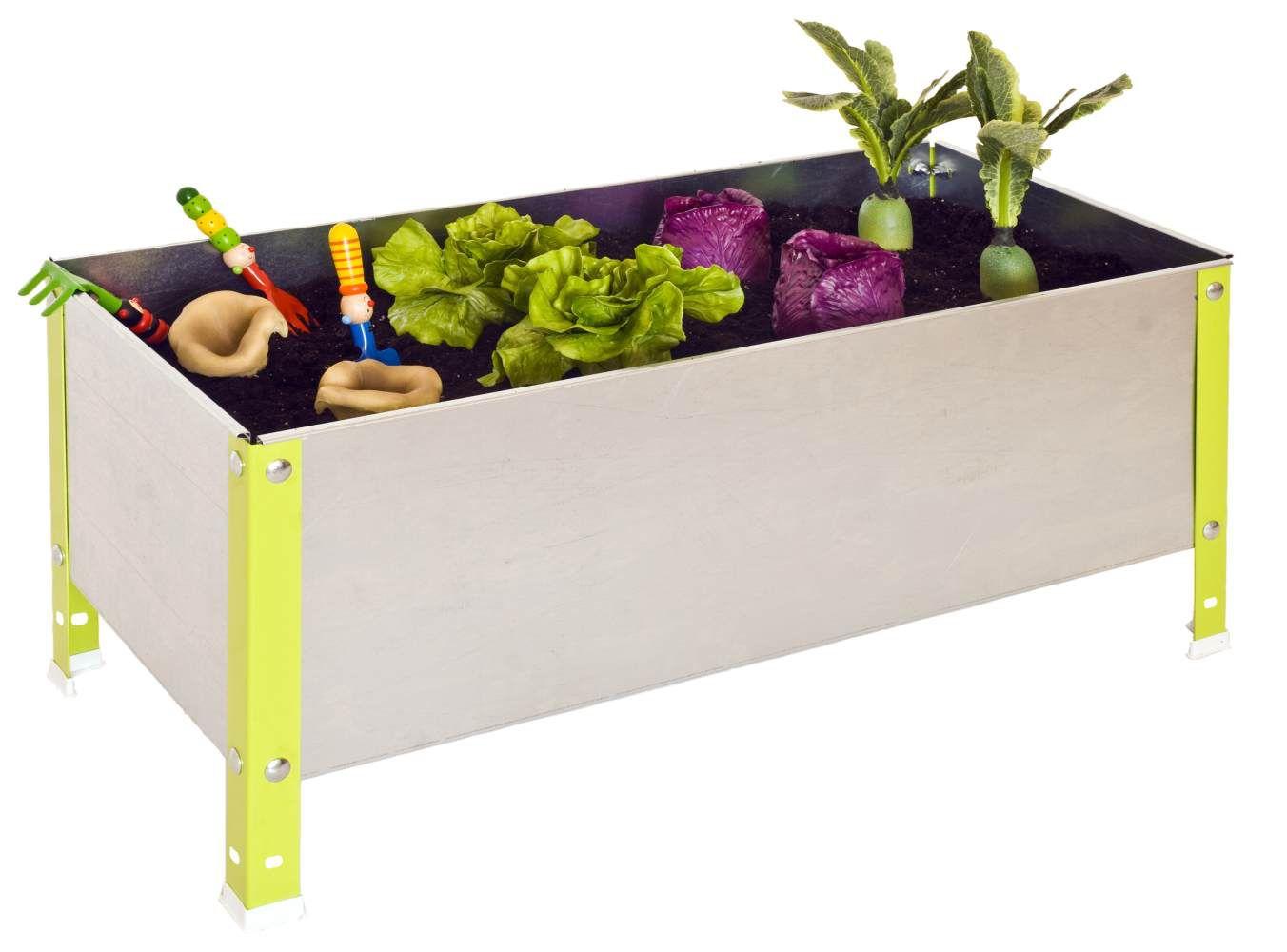 Pflanzbox Urban Garden, Farbe: Grau / Grün, Maße: 41 x 120 x 60 cm (H x B x T)
