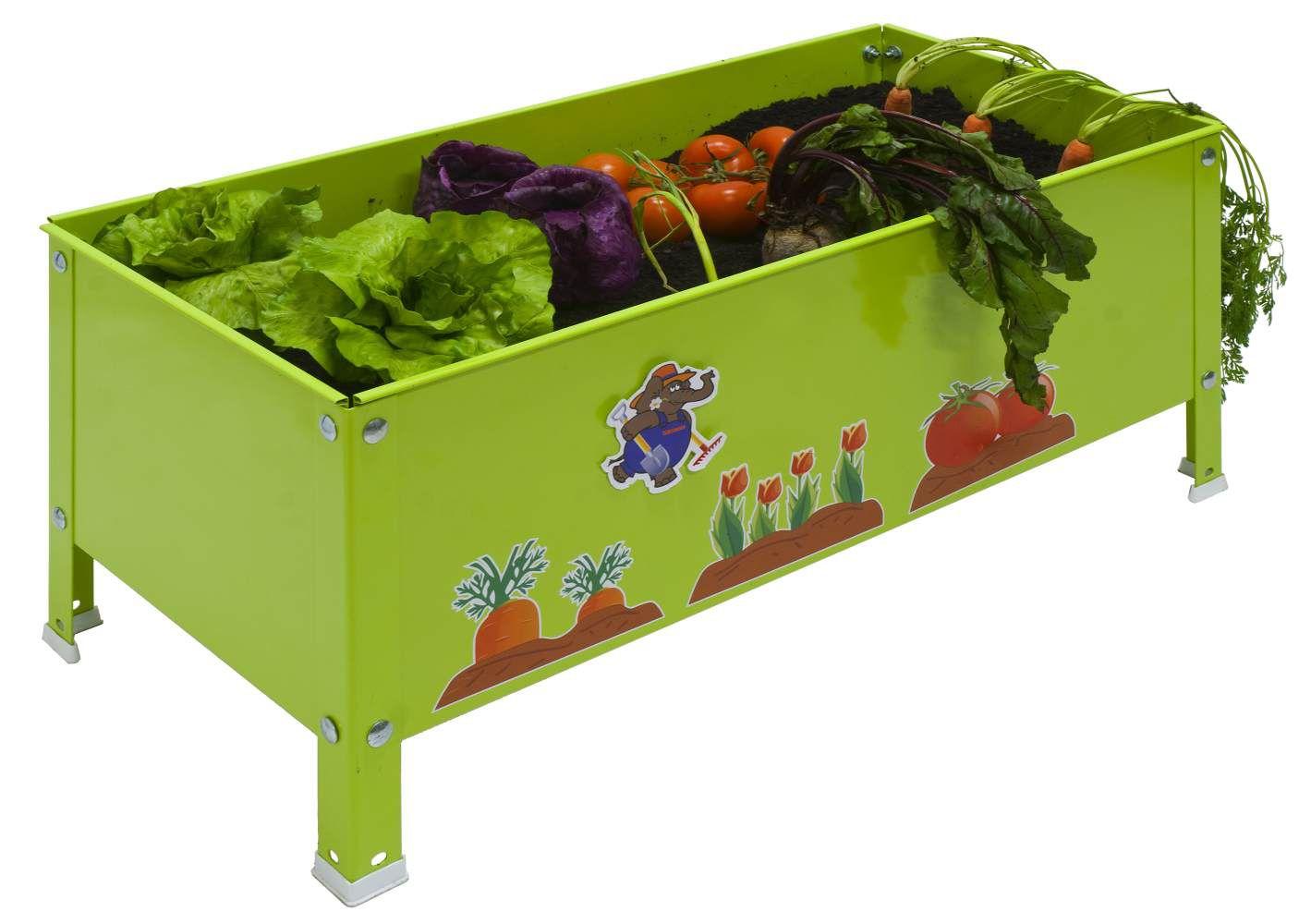 Pflanzbox Urban Garden Kid, Farbe: Grün, Maße: 41 x 70 x 30 cm (H x B x T)